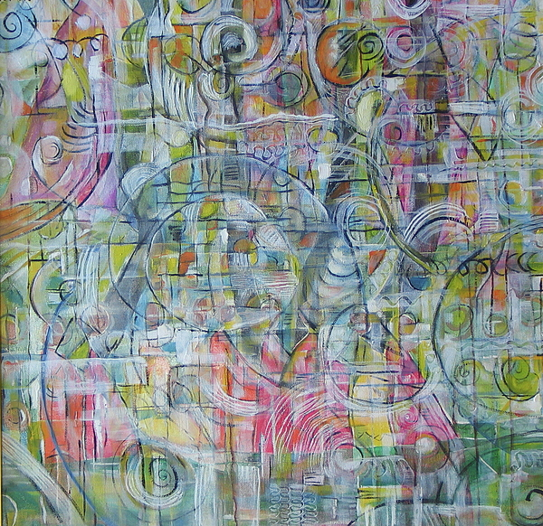 Abstract Painting - Chromatic Seredipity by Amy  Markham