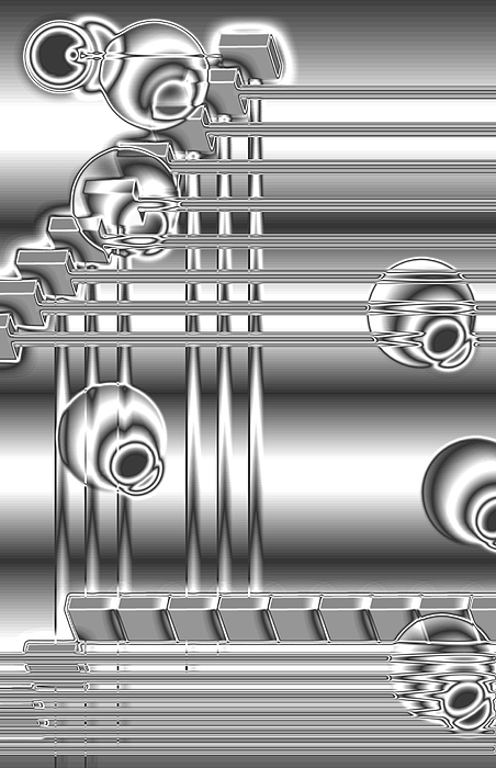 Chrome Basic Digital Art by Mitchell Dupre