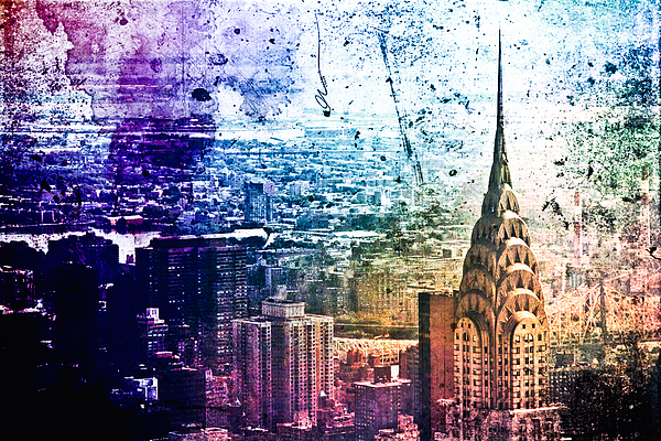 New York City Photograph - Chrysler Building - Colorful - New York City by Vivienne Gucwa