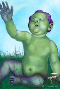 Digital Digital Art - Chubby Elvin Lad by J P Lambert