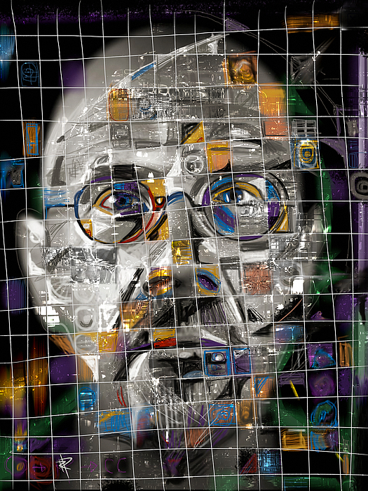 Chuck Close Mixed Media - Chuck Close by Russell Pierce