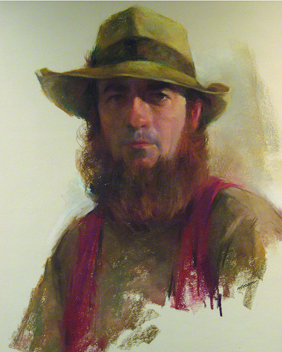 Portrait Pastel - Chuck Moran-self Portrait by Charles Vernon Moran