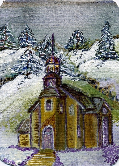 Water Color Painting - Church In The Vale by Susan Anderson