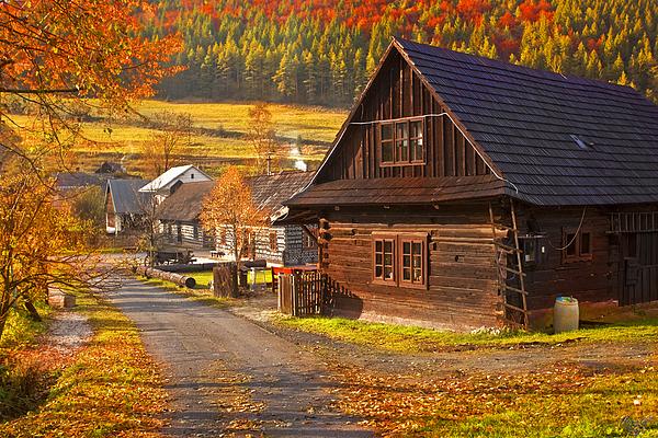 Cicmany Photograph - Cicmany -old Village  In Slovakia by Renata Vogl