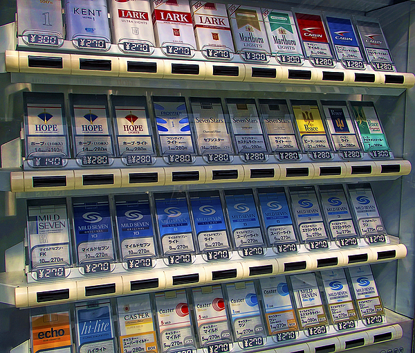 Cigarette Vending Machine In Japan Photograph By Daniel