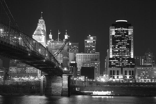 Cincinnati Photograph - Cincinnati At Night by Russell Todd