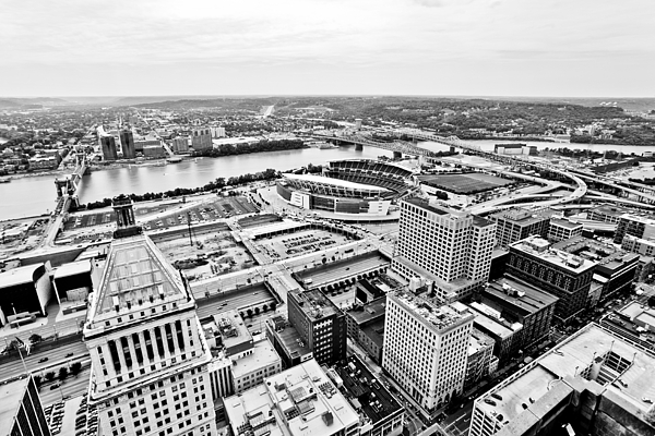 America Photograph - Cincinnati Skyline Aerial by Paul Velgos
