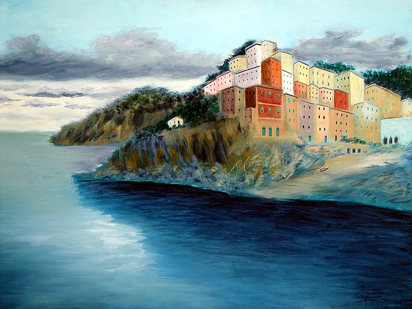 Italy Painting - Cinque Terre by Larry Cirigliano