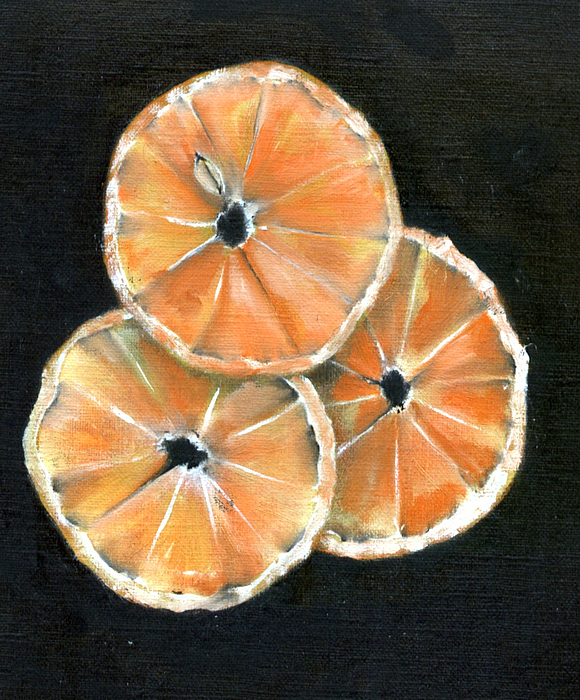 Orange Painting - Circle Of Orange by Penny Everhart