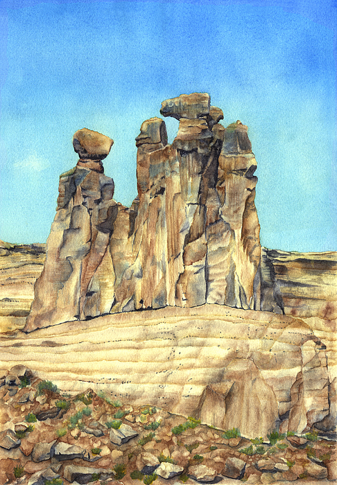 Rock Formations Painting - Circle Of Wise Women by Gladys Folkers