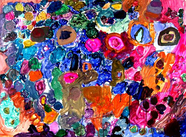 Circles Painting - Circles by Janice Michaud