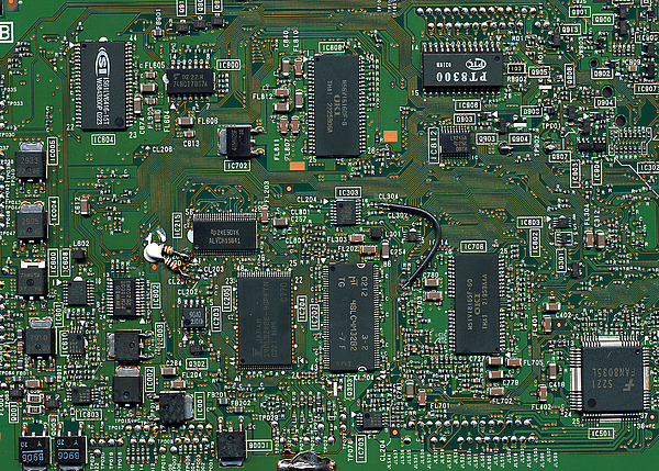 Circuit Board Photograph - Circuit Board I by David Paul Murray