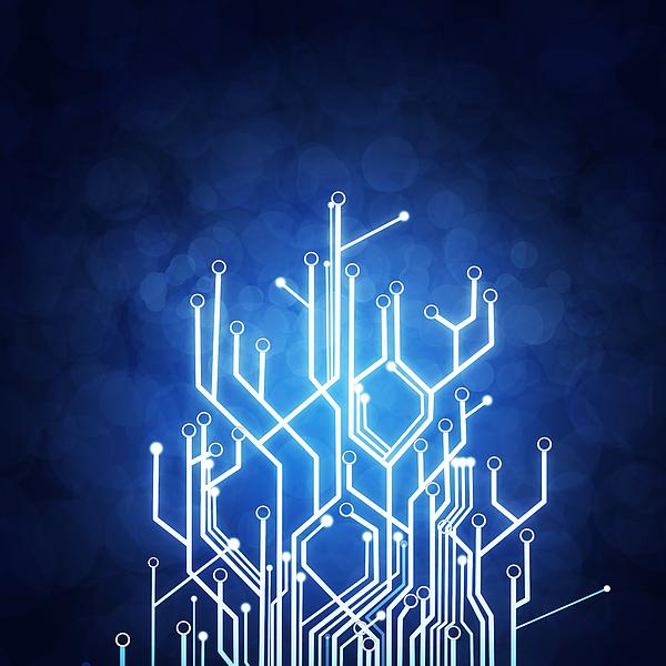 Abstract Photograph - Circuit Board Technology by Setsiri Silapasuwanchai