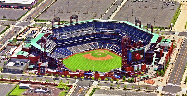 Aerial Photograph Photograph - Citizens Bank Park Phillies by Duncan Pearson