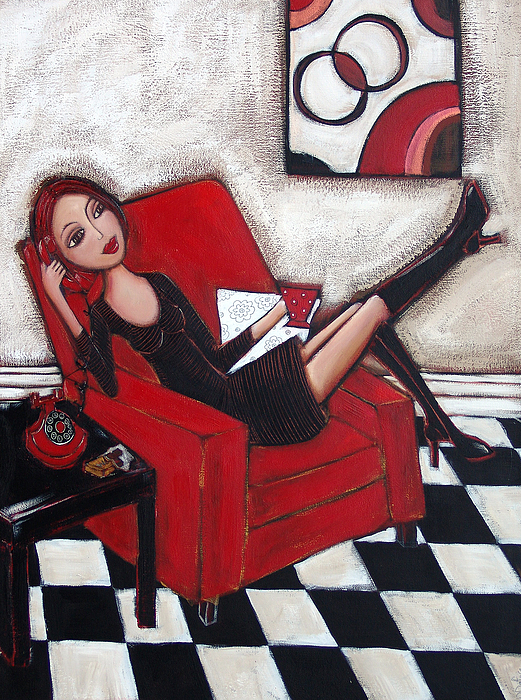 Red Painting - City Chic by Denise Daffara