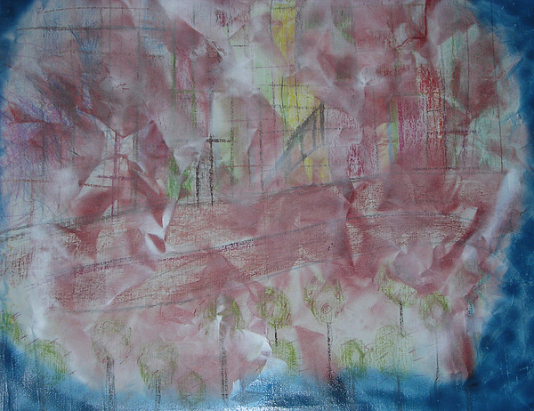 Abstract Painting - City In Blue by Russell Simmons