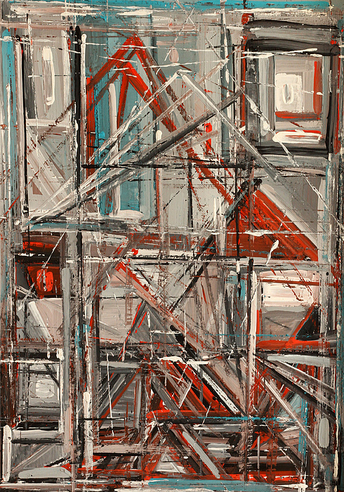 Abstract Painting - City by Natia Tsiklauri