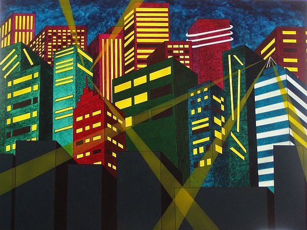 City Painting - City Scion by Patti Bean