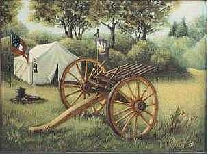 Civil War Cannon Painting by Clare Harvey