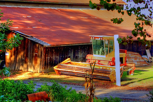 Hdr Photograph - Clarkburg Combine by Randy Wehner Photography