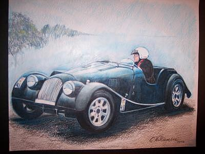 Classic Car Painting by Carrie Williamson