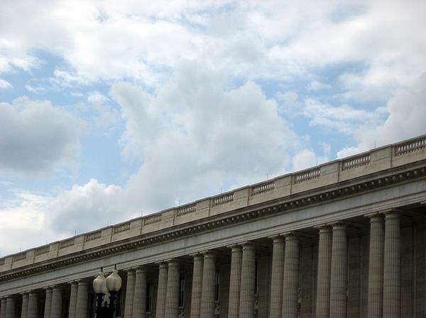 Columns Photograph - Classic Clouds by Sean Owens