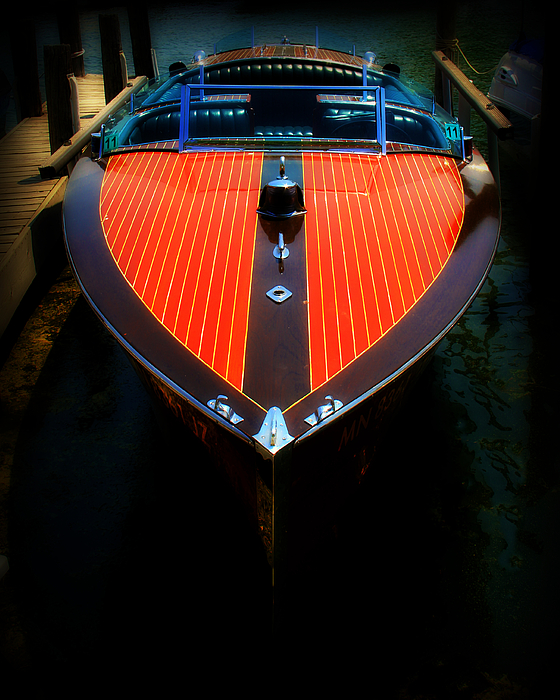 Boat Photograph - Classic Wooden Boat by Perry Webster
