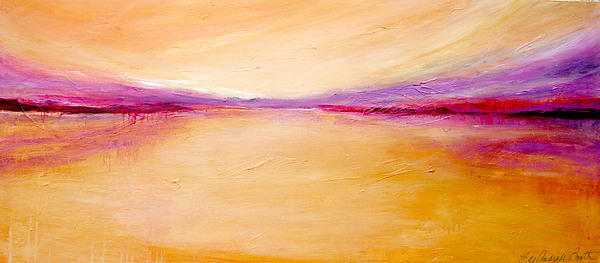 Abstract Painting - Clearwater Sunset by Filomena Booth