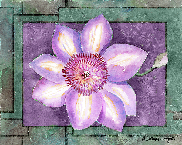 Flowers Painting - Clematis by Arline Wagner