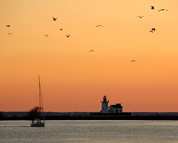 Great Lakes Photograph - Cleveland Harbor Sunset by Jon Holiday