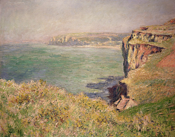 Cliff Painting - Cliff At Varengeville by Claude Monet