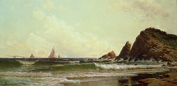 Cliffs At Cape Elizabeth Painting - Cliffs At Cape Elizabeth by Alfred Thompson Bricher