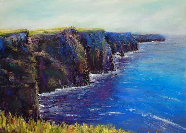 Landscape Pastel - Cliffs Of Moher by Joyce A Guariglia