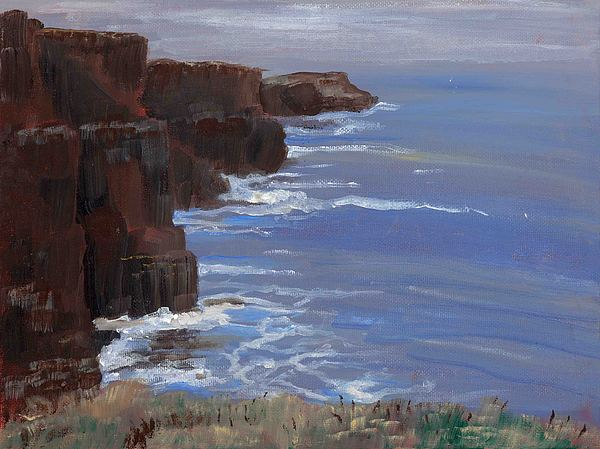 Seascape Painting - Cliffs Of Mohr by Cathy France