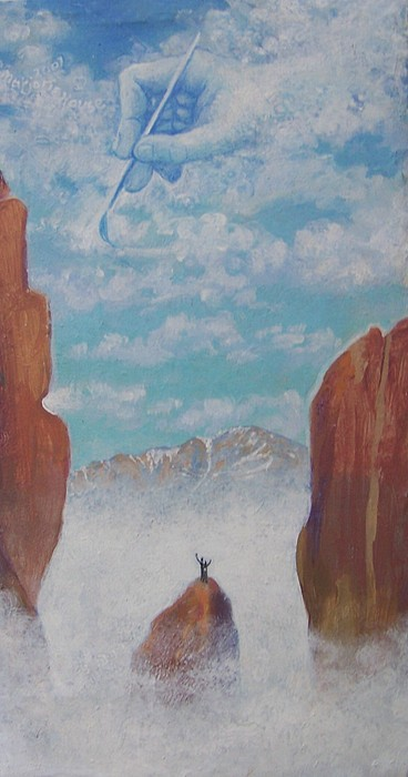 Garden Of The Gods Painting - Climb To The Heavens by Marjorie Hause