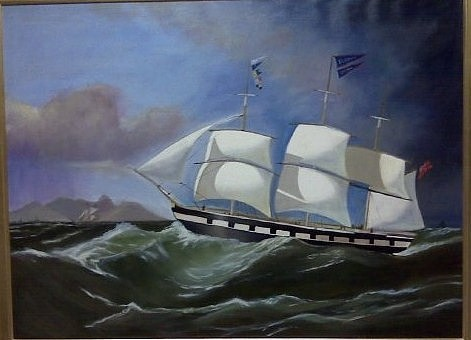 Classic Marine Art Painting - Clipper Ship by Brent Moody