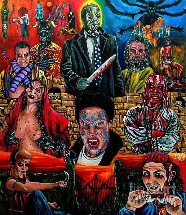 Clive Barker Painting - Clive Barkers Nightbreed by Jose Mendez