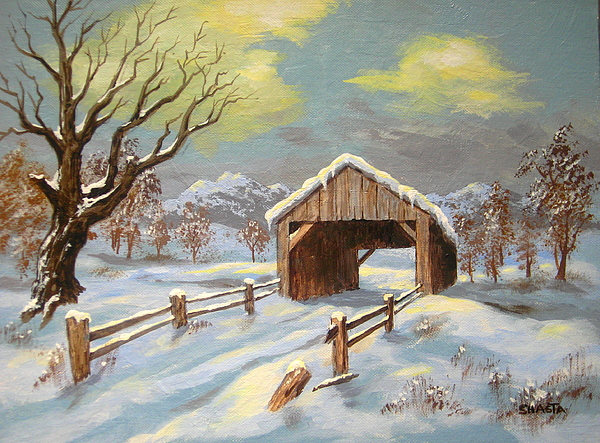 Landscape Painting - Closed  Road by Shasta Eone