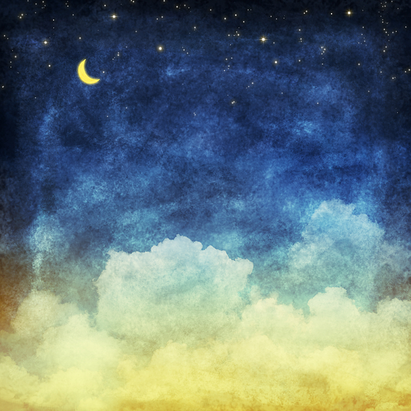 Art Painting - Cloud And Sky At Night by Setsiri Silapasuwanchai
