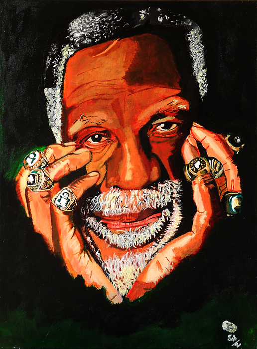 Bill Russell Painting - Cloud Eleven - Bill Russell by Saheed Fawehinmi