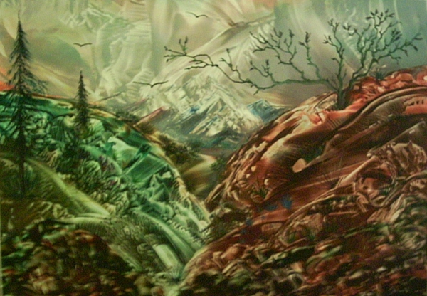Landscape Painting - Cloud Mountain by John Vandebrooke