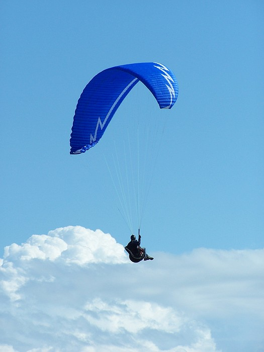 Paragliding Photograph - Cloud Sitting by Gene Ritchhart