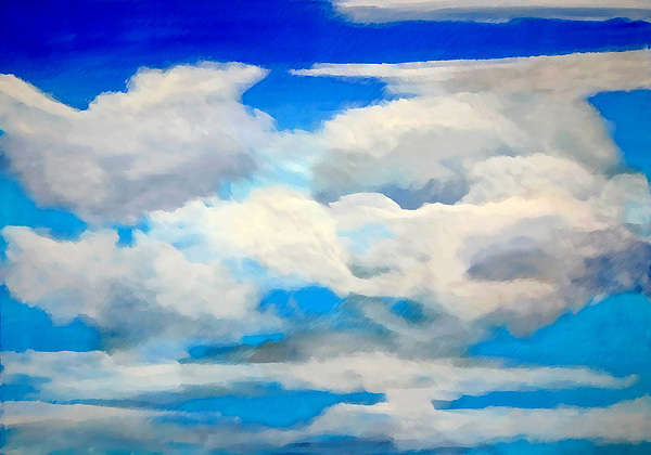 En Plein Air Painting - Cloud Study by Donna Proctor