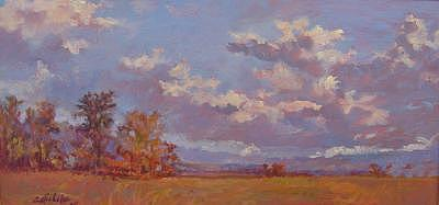 Clouds Over Stringer Farm Painting by Susan Nicholas Gephart