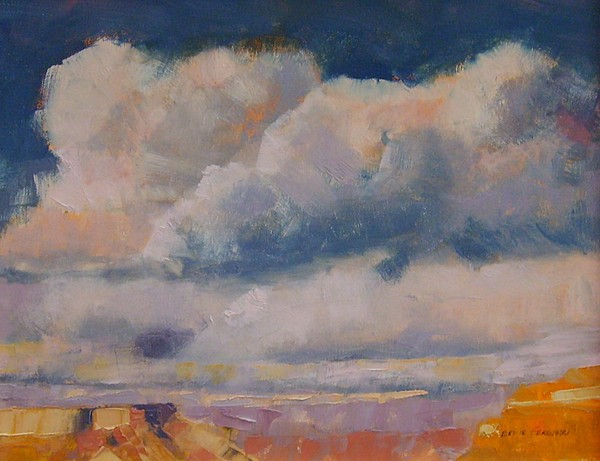Landscape Painting - Clouds Over The Canyon by Ernie Ferguson