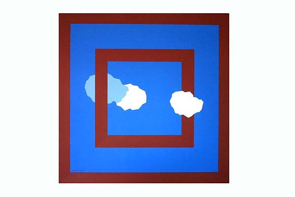 Clouds Painting - Clouds With Two Frames by Leo  De Freyne