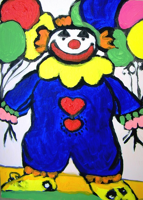Clown Painting - Clown For Jack by Judith Redman