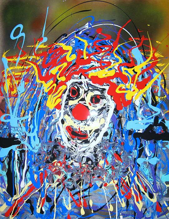 Clown Painting - Clowning Around With Color by Darryl  Kravitz
