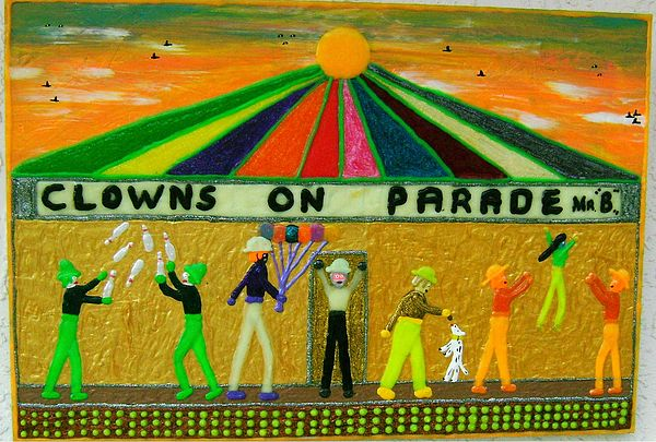 Puff Painting - Clowns On Parade by Jack Beverland