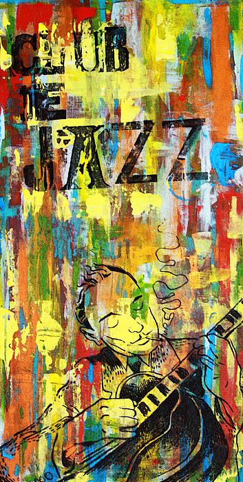 Club Mixed Media - Club De Jazz by Sean Hagan